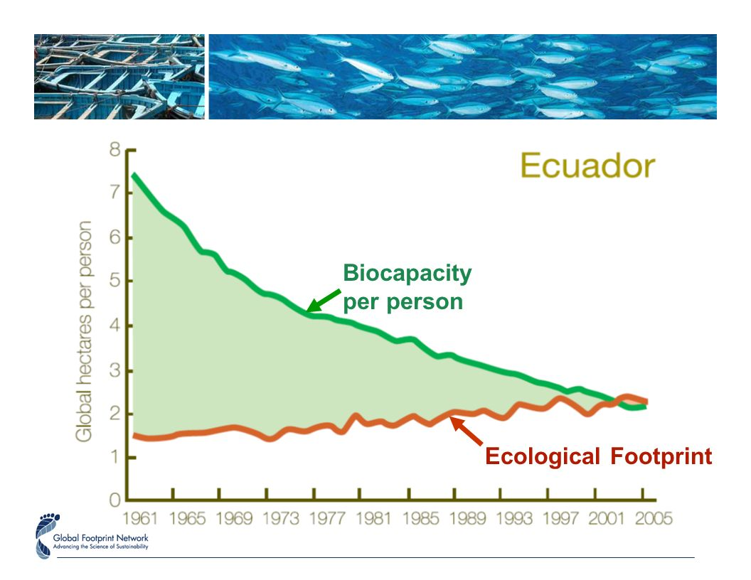 Biocapacity per person Ecological Footprint