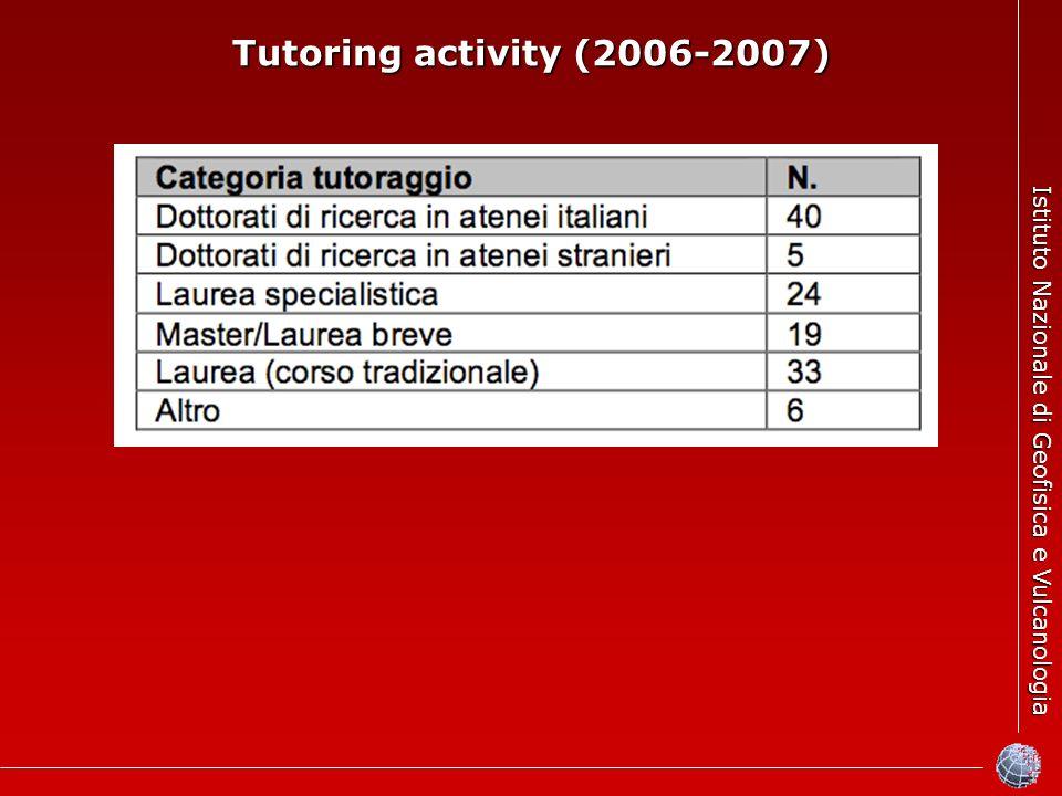 Istituto Nazionale di Geofisica e Vulcanologia Tutoring activity (2006-2007)