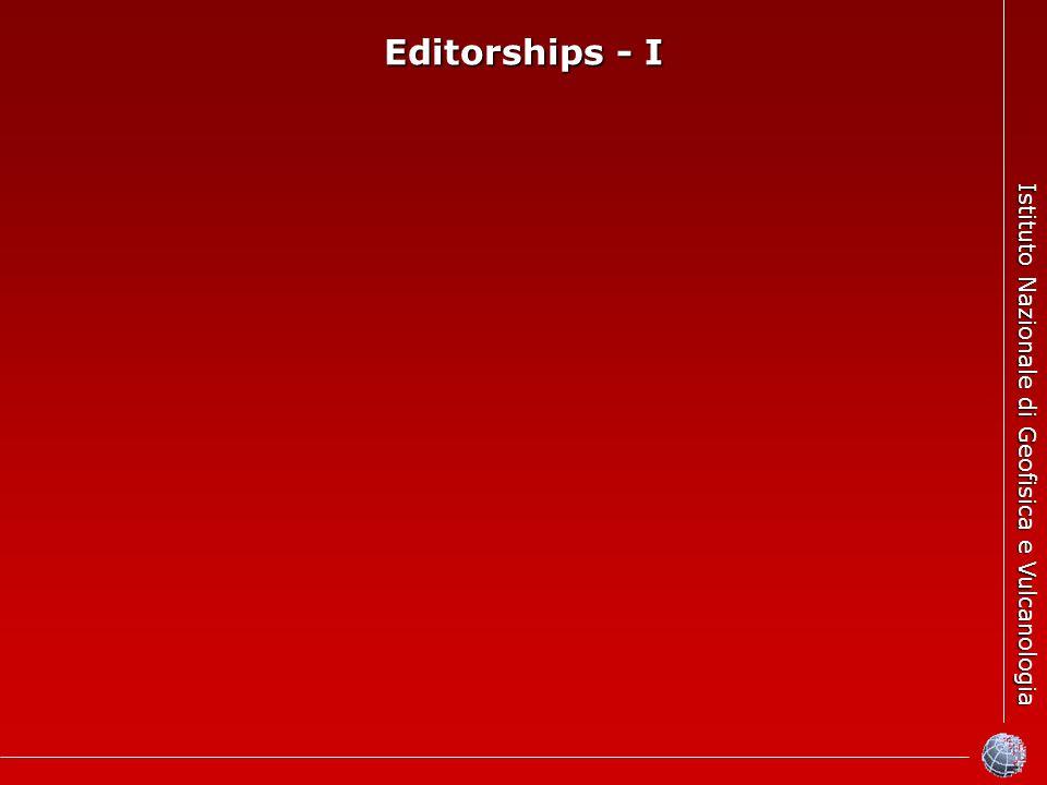 Istituto Nazionale di Geofisica e Vulcanologia Editorships - I