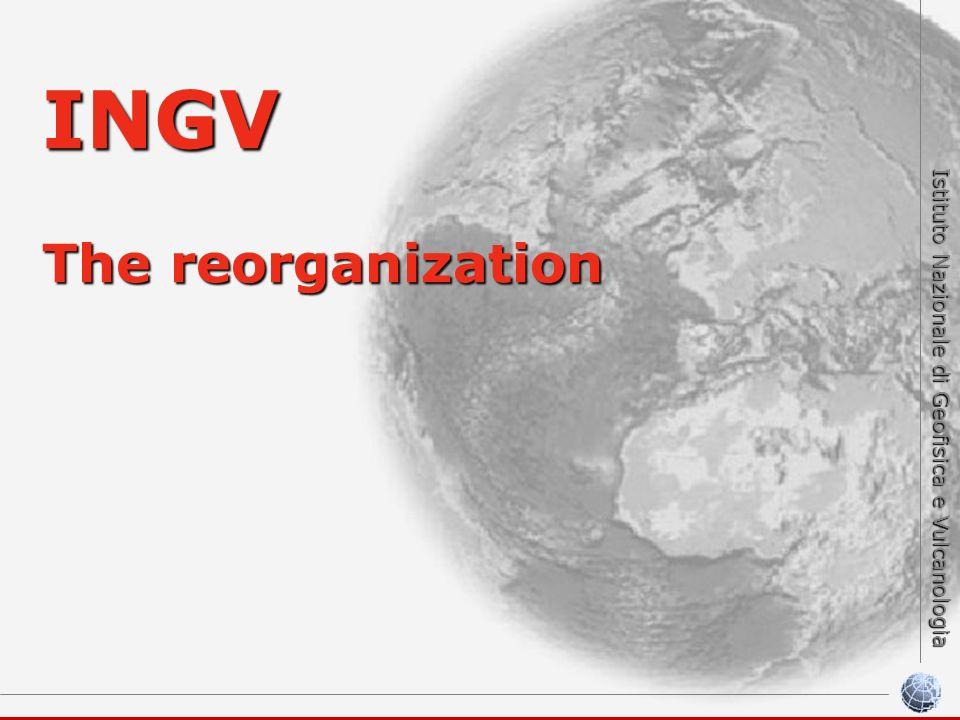 Istituto Nazionale di Geofisica e Vulcanologia INGV The reorganization