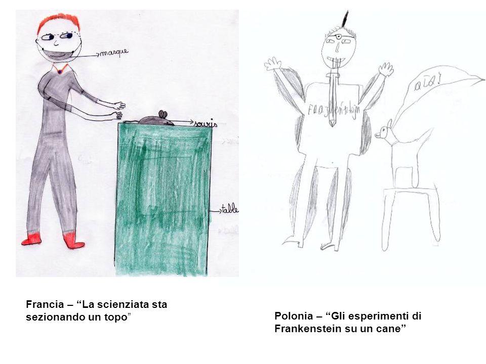 Francia – La scienziata sta sezionando un topo Polonia – Gli esperimenti di Frankenstein su un cane