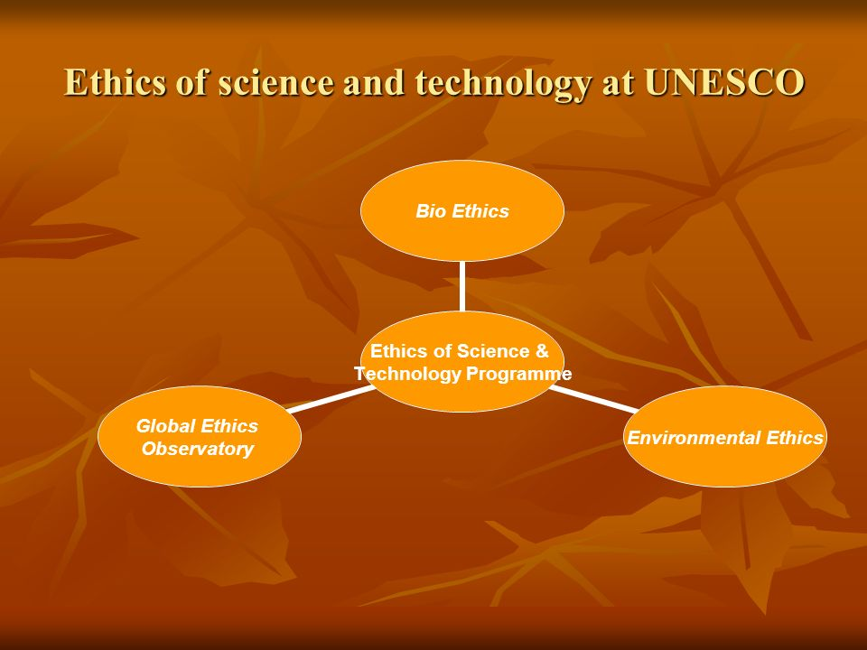 Ethics of science and technology at UNESCO