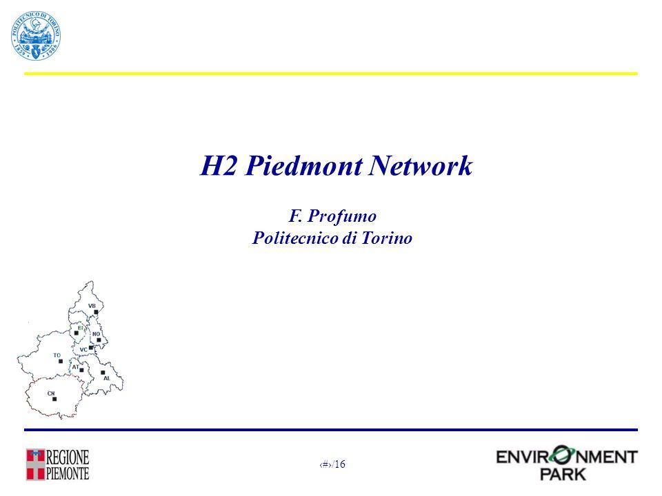 1/16 H2 Piedmont Network F. Profumo Politecnico di Torino