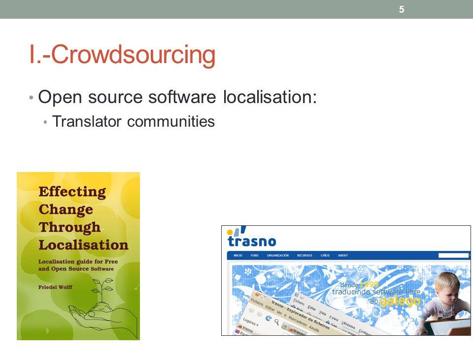 I.-Crowdsourcing Open source software localisation: Translator communities 5