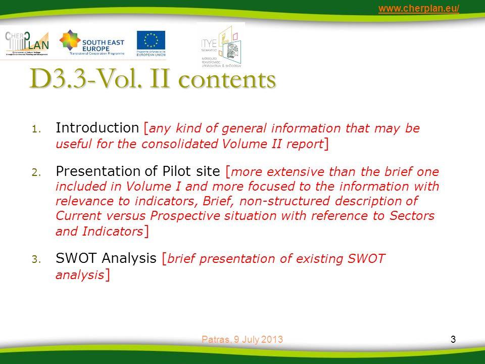 www.cherplan.eu/ D3.3-Vol.II contents 4.