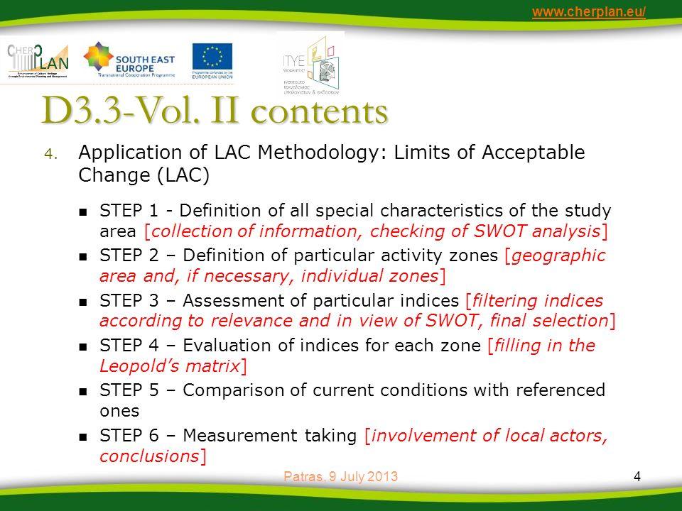 www.cherplan.eu/ D3.3-Vol.II contents 5.