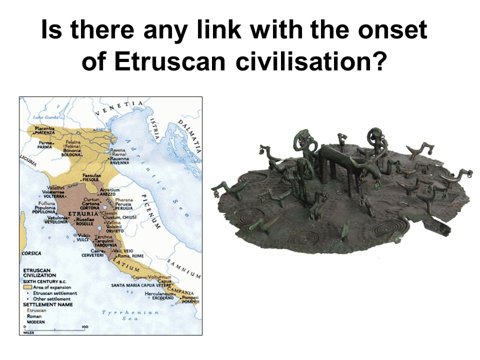Is there any link with the onset of Etruscan civilisation?