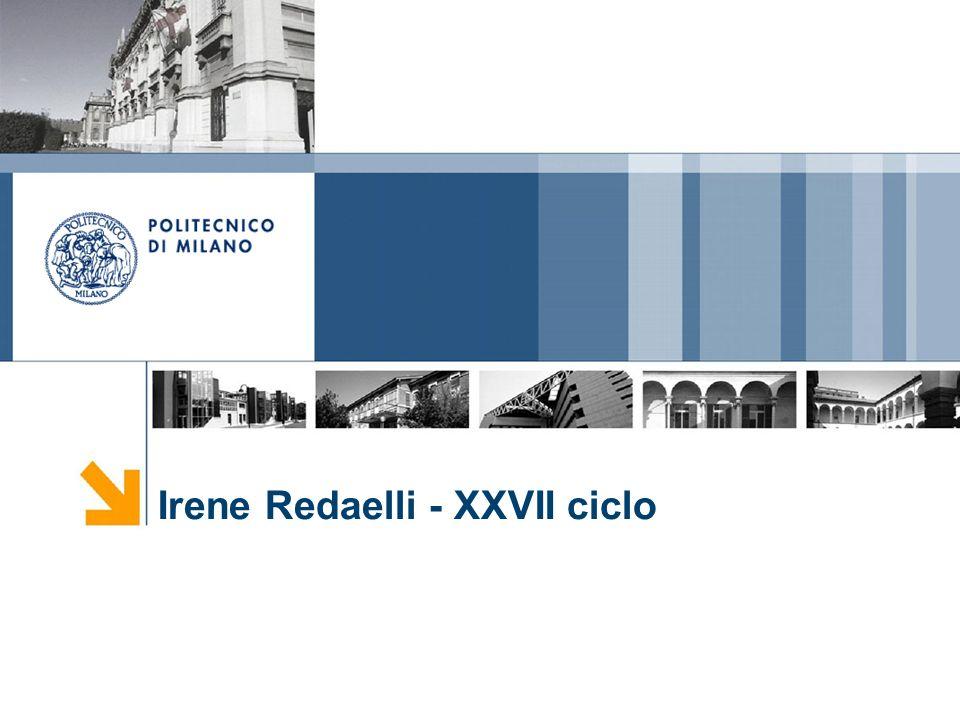 Irene Redaelli - XXVII ciclo