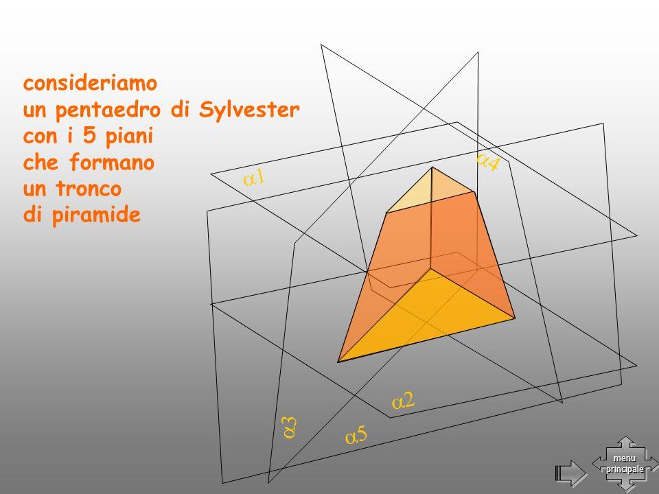 consideriamo un pentaedro di Sylvester con i 5 piani che formano un tronco di piramide menu principale menu principale
