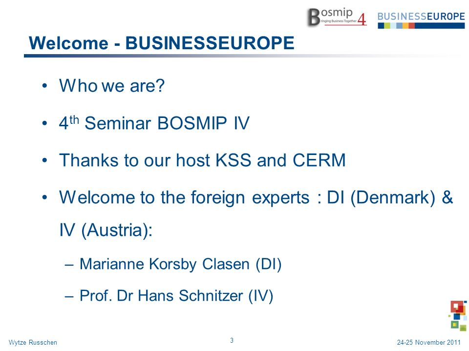 Welcome - BUSINESSEUROPE Who we are.