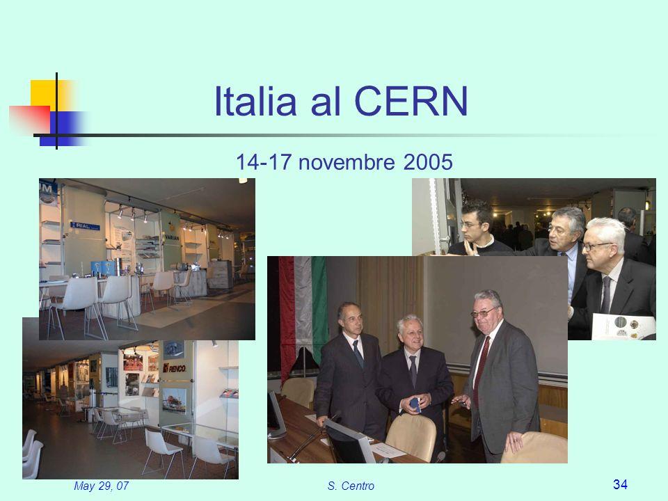 May 29, 07S. Centro 34 Italia al CERN 14-17 novembre 2005