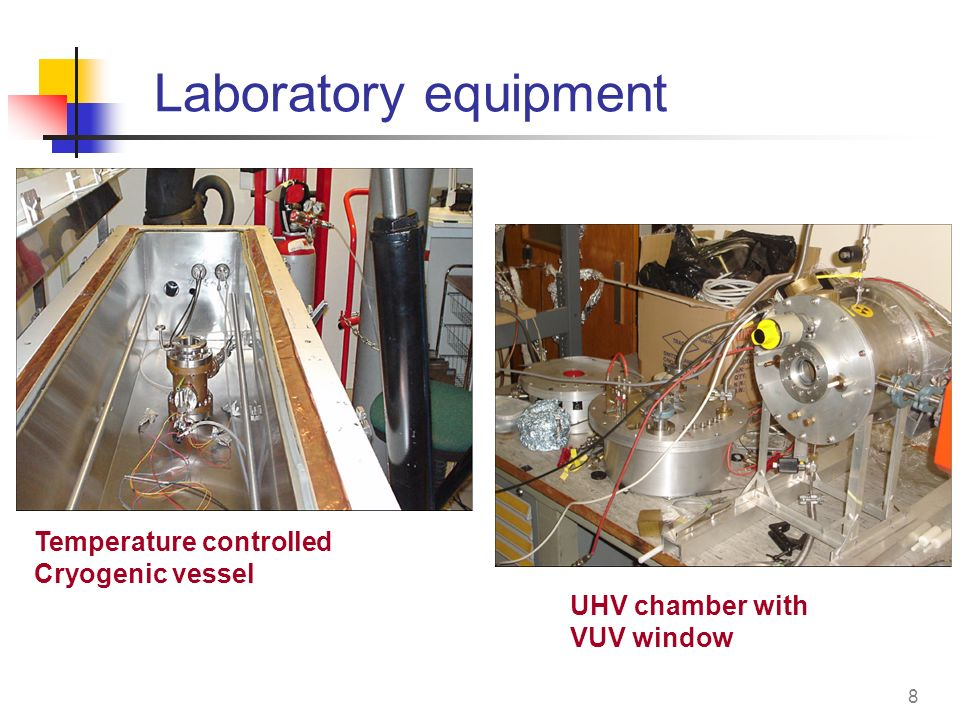 8 Laboratory equipment Temperature controlled Cryogenic vessel UHV chamber with VUV window