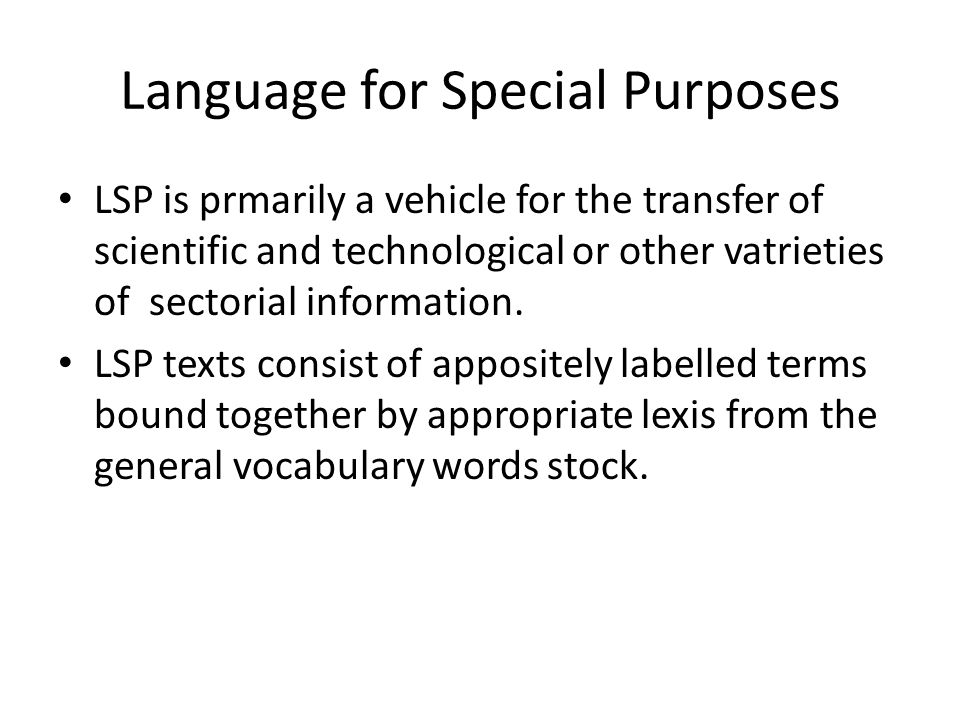 language for special purposes