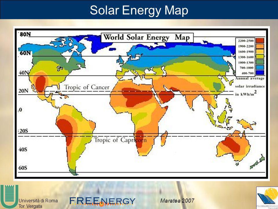 Università di Roma Tor Vergata Maratea 2007 Solar Energy Map
