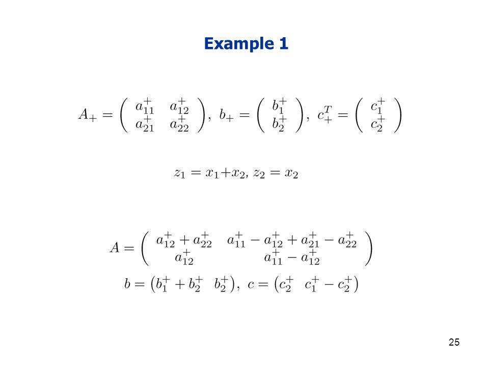 25 Example 1