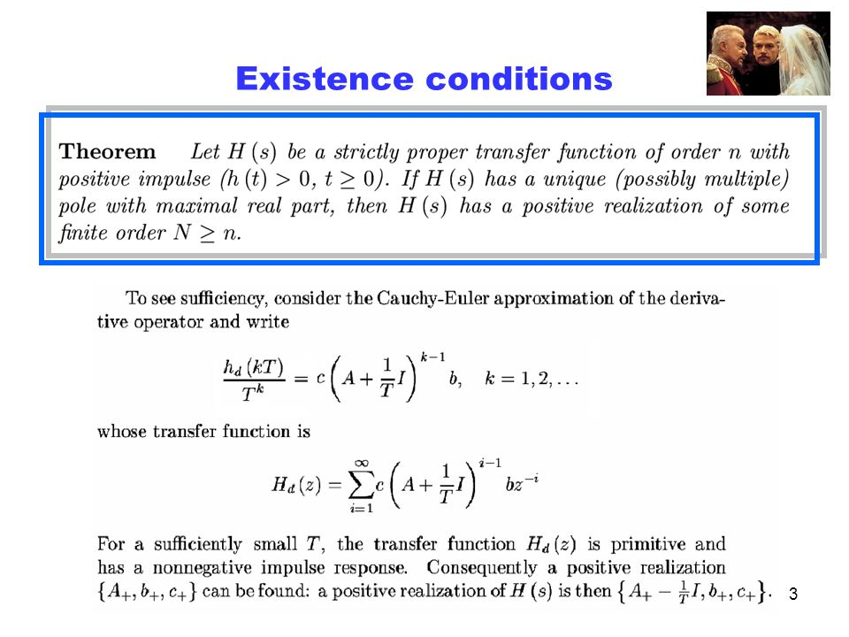 3 Existence conditions