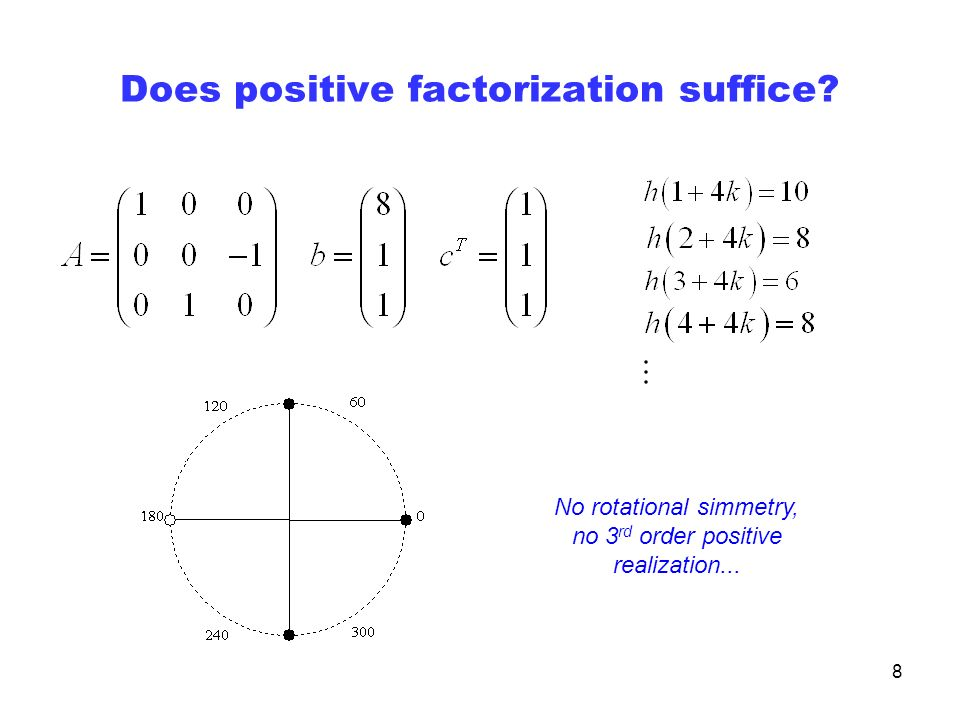 8 Does positive factorization suffice.