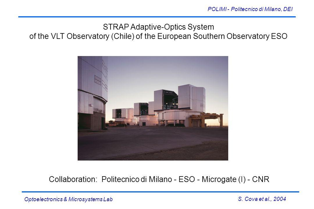 S. Cova et al., 2004 POLIMI - Politecnico di Milano, DEI Optoelectronics & Microsystems Lab 4 SPAD PerkinElmer SLIK ® 4 hybrid AQC 4 E 2 PROM Collabor