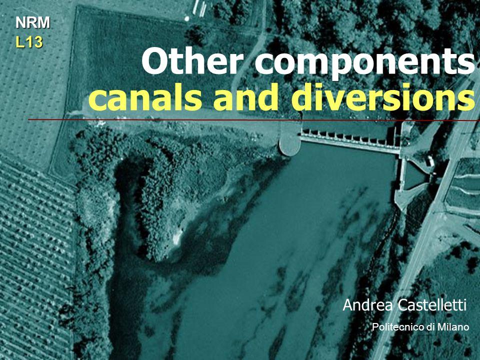 Other components canals and diversions Andrea Castelletti Politecnico di Milano NRML13