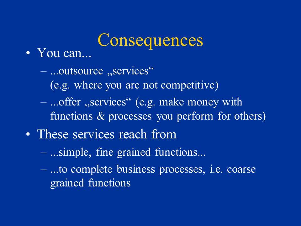 Consequences You can...–...outsource services (e.g.