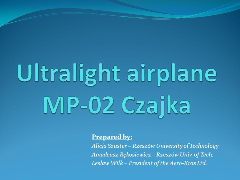 Prepared by: Alicja Szuster – Rzeszów University of Technology Amadeusz Rękosiewicz – Rzeszów Univ. of Tech. Lesław Wilk – President of the Aero-Kros