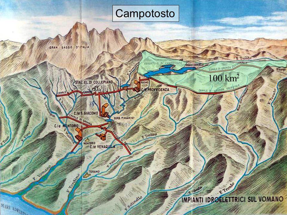 12 Affluenti Campotosto 100 km 2 Campotosto