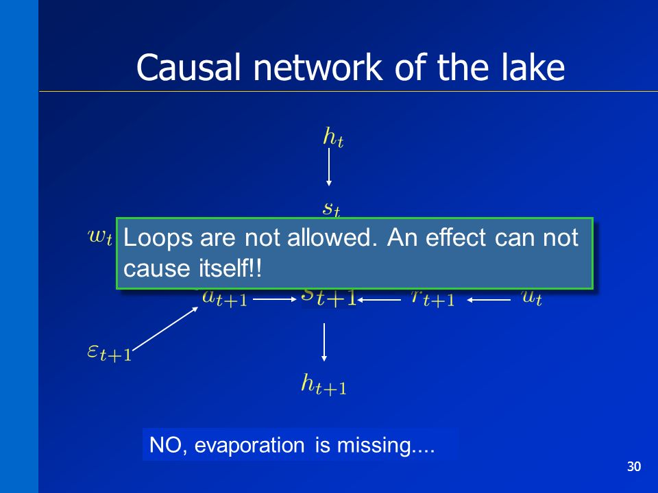 30 Causal network of the lake Is it a good model of reality.