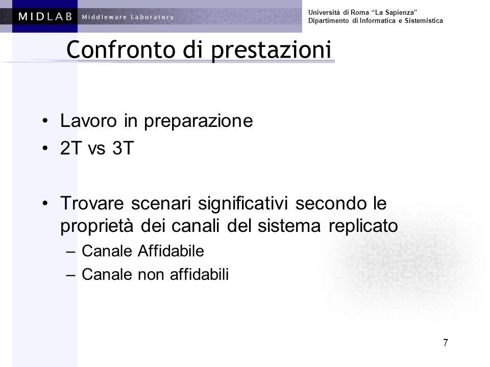 Università di Roma La Sapienza Dipartimento di Informatica e Sistemistica 8 Esperimento 3.