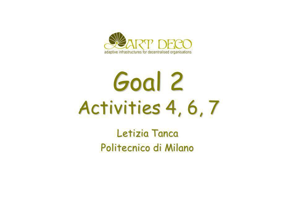 Goal 2 Activities 4, 6, 7 Letizia Tanca Politecnico di Milano