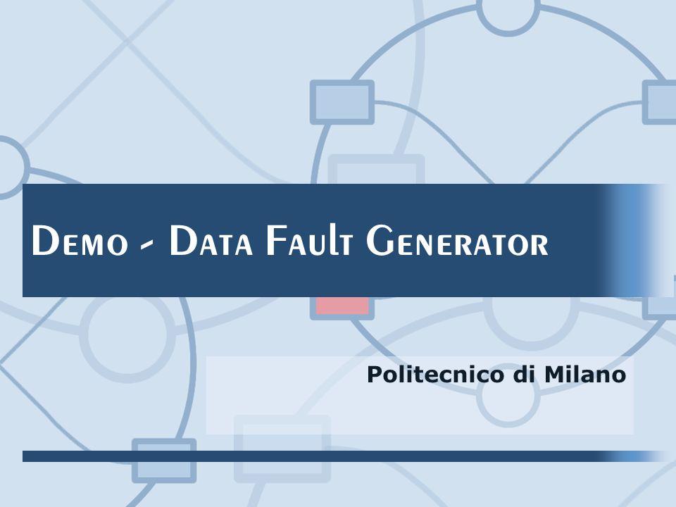Demo - Data Fault Generator Politecnico di Milano