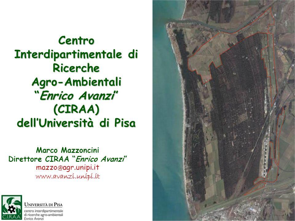 Centro Interdipartimentale di Ricerche Agro-AmbientaliEnrico Avanzi (CIRAA) dellUniversità di Pisa Marco Mazzoncini Direttore CIRAA Enrico Avanzi mazzo @ agr.unipi.it www.avanzi.unipi.it