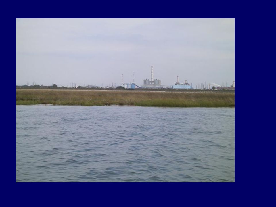 Today landscape: lagoon and industry
