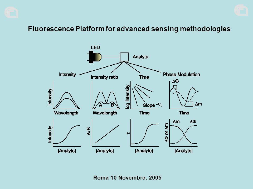 Roma 10 Novembre, 2005 Fluorescence Platform for advanced sensing methodologies