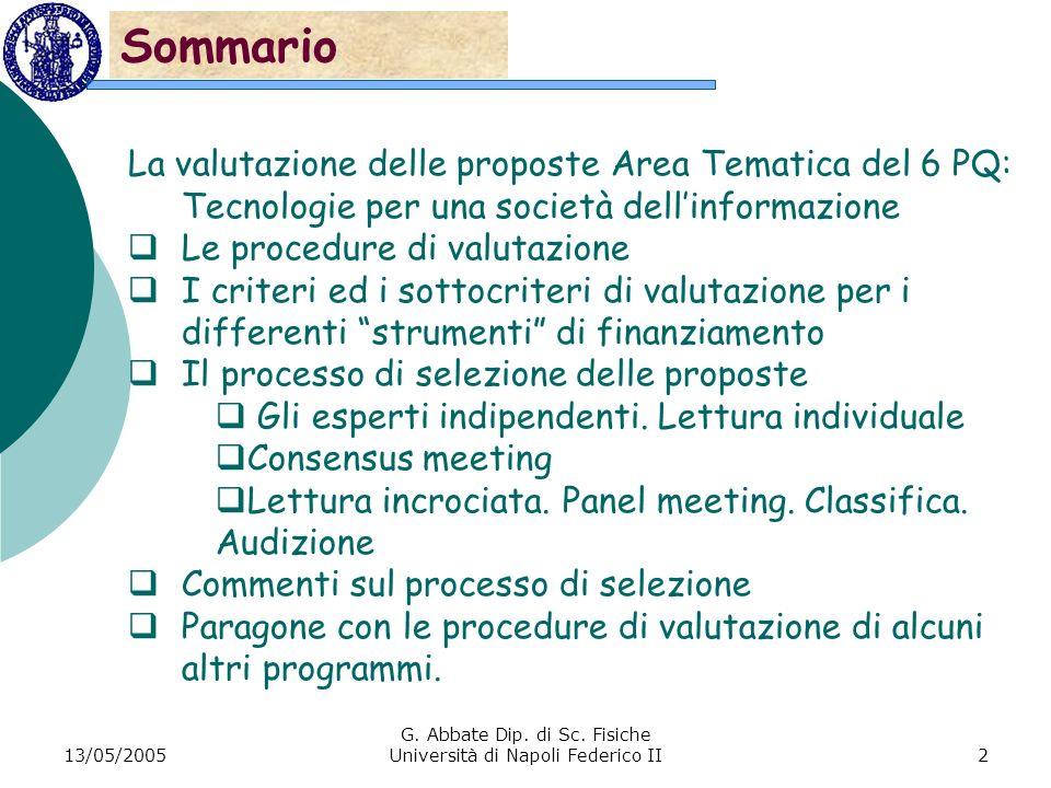 13/05/2005 G. Abbate Dip. di Sc.