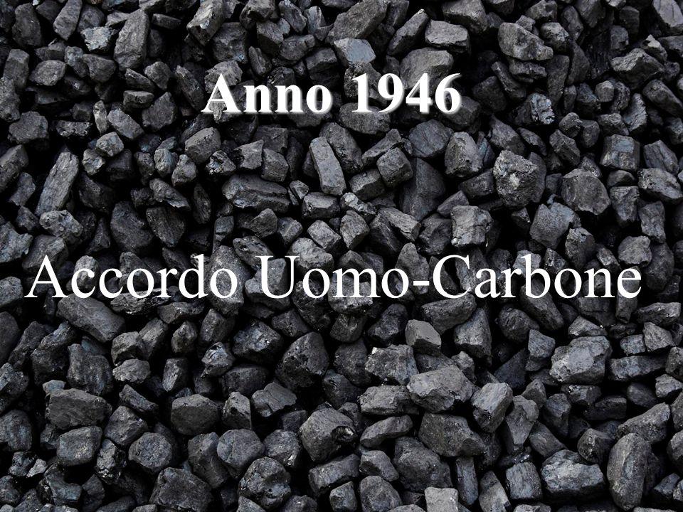 Anno 1946 Accordo Uomo-Carbone