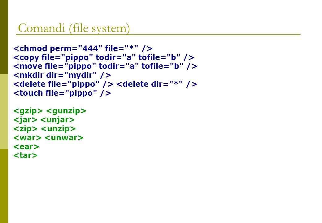 Comandi (file system)