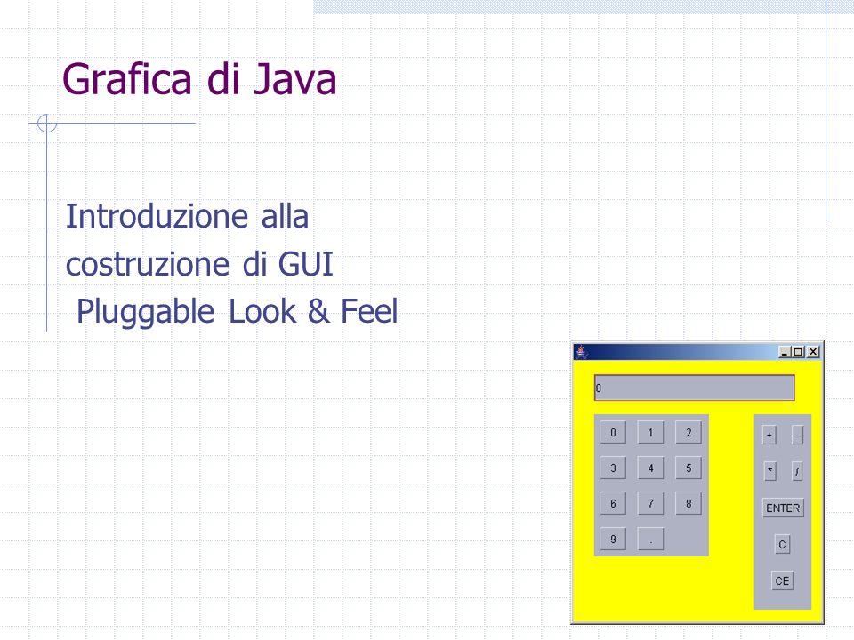 Grafica di Java Introduzione alla costruzione di GUI Pluggable Look & Feel