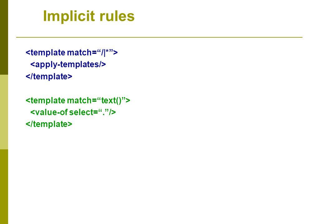 Implicit rules