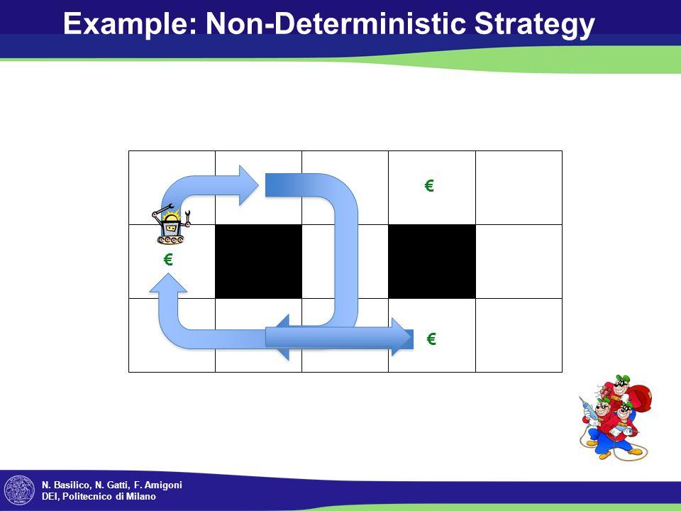 N. Basilico, N. Gatti, F. Amigoni DEI, Politecnico di Milano Example: Non-Deterministic Strategy