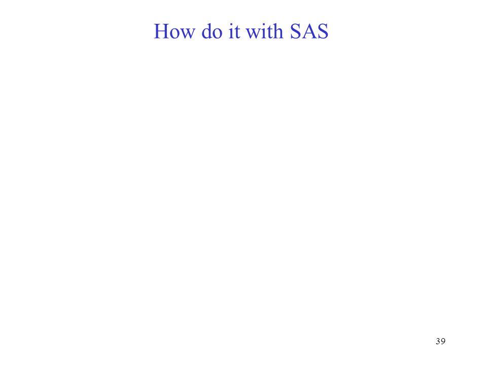 38 SourcecdfMSE[MS]F Trattamenti Trees Leaves Error a-1 a(b-1) ab(c-1) abc(r-1) MS a MS (a)b MS (ab)c MS e bcrσ a 2 +cr σ (a)b 2 + r σ (ab)c 2 +σ 2 cr σ (a)b 2 + r σ (ab)c 2 +σ 2 r σ (ab)c 2 +σ 2 σ 2 MS a /MS (a)b MS (a)b /MS (ab)c MS (ab)c /MS e MS e MS (ab)c = rs (ab)c 2 + s 2 MS (a)b = cr s (a)b 2 + r s (ab)c 2 +s 2 = cr s (a)b 2 + MS (ab)c MS a = bcrs a 2 +cr s (a)b 2 + r s (ab)c 2 +s 2 = bcrs a 2 +MS (a)b