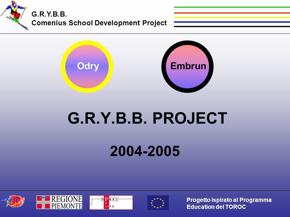 G.R.Y.B.B. Comenius School Development Project Progetto ispirato al Programma Education del TOROC G.R.Y.B.B. PROJECT 2004-2005 OdryEmbrun
