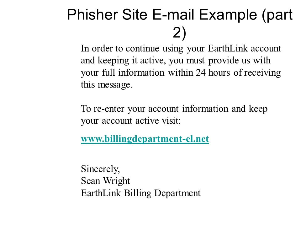 Phisher Site Example