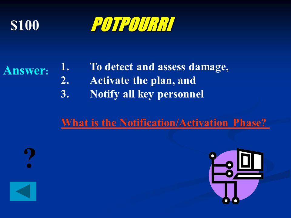 $500 Answer : ? EVENTS Accidental system damage, theft, eavesdropping, sabotage/vandalism, improper handling of sensitive information, resource misuse