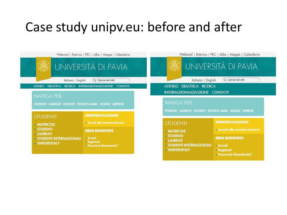 Case study unipv.eu: before and after