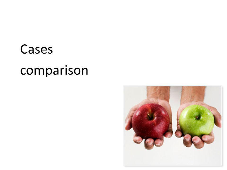 Cases comparison