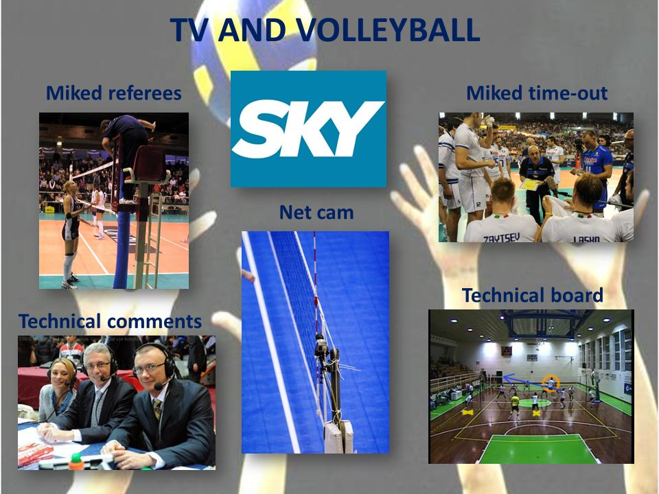 TV AND VOLLEYBALL Miked refereesMiked time-out Net cam Technical comments Technical board