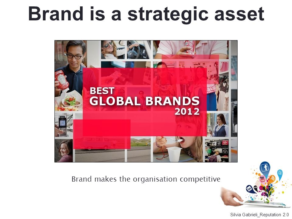 Brand is a strategic asset Brand makes the organisation competitive Silvia Gabrieli_Reputation 2.0