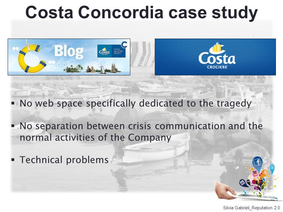 No web space specifically dedicated to the tragedy No separation between crisis communication and the normal activities of the Company Technical probl