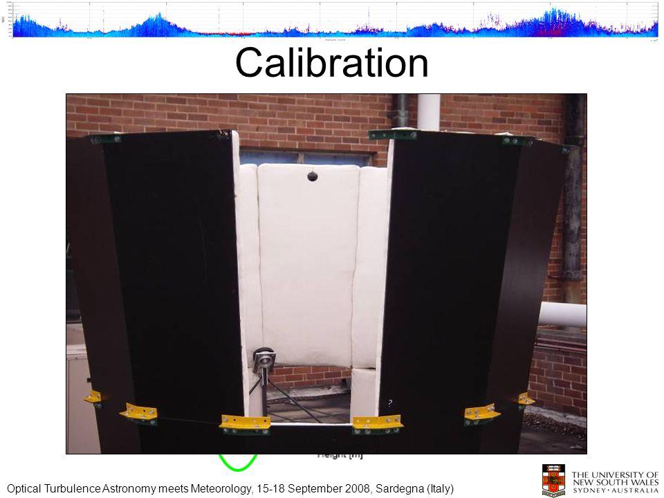 Calibration Optical Turbulence Astronomy meets Meteorology, 15-18 September 2008, Sardegna (Italy)