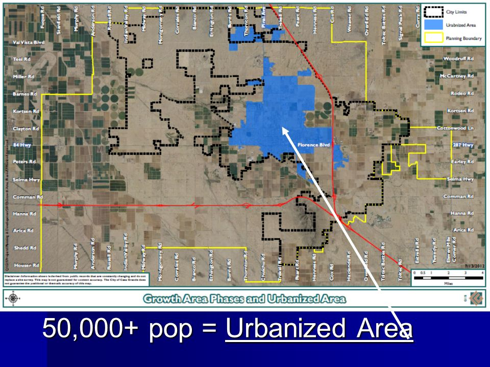 50,000+ pop = Urbanized Area